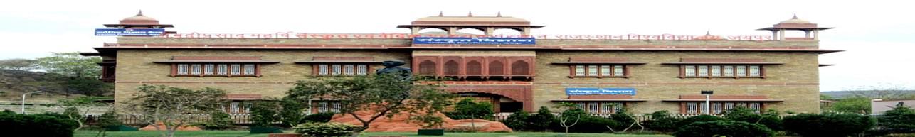 University of Rajasthan - [RU], Jaipur - Admission Details 2020