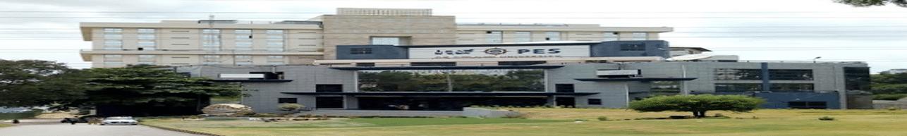 PES University - [PESU], Bangalore - Course & Fees Details