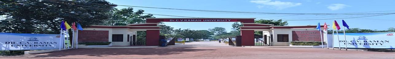 Dr. C.V. Raman University - [CVRU], Bilaspur - Scholarship Details