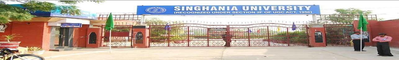 Singhania University, Jhunjhunu - Course & Fees Details