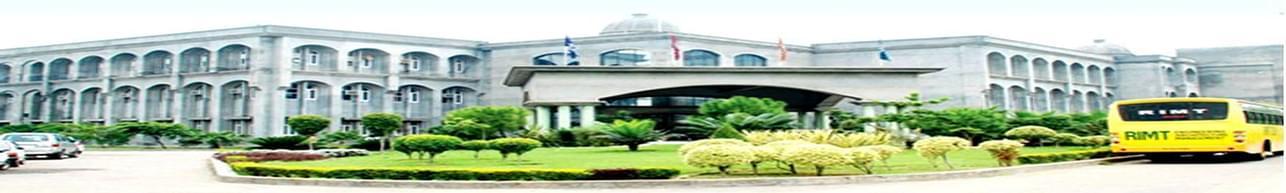 RIMT  University, Gobindgarh - Course & Fees Details