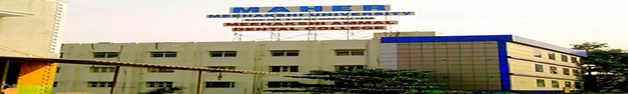 Meenakshi Ammal Dental College and Hospital, Maher University, Chennai
