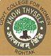 Government College For Women, Rohtak logo