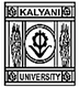 University of Kalyani, Kalyani logo