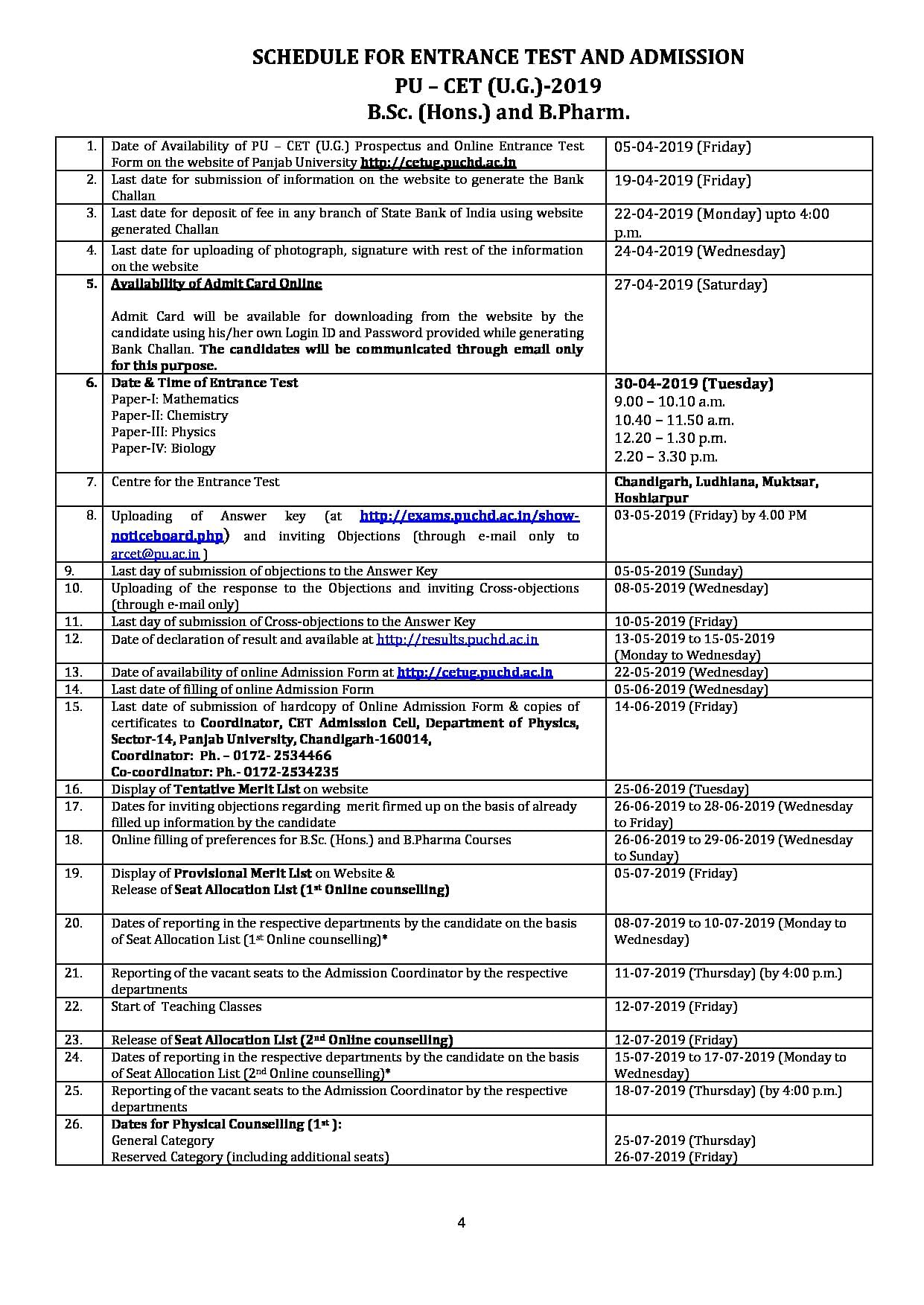 Panjab University Colleges Courses Fees Admission Result Placement Reviews