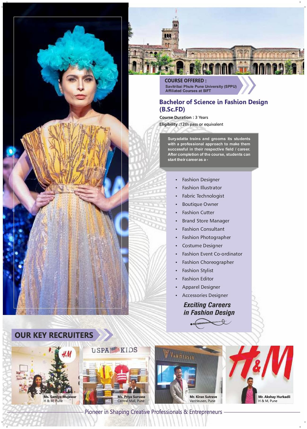 Suryadatta Institute Of Fashion Technology Pune Courses Fee Admission Placement Contact Address