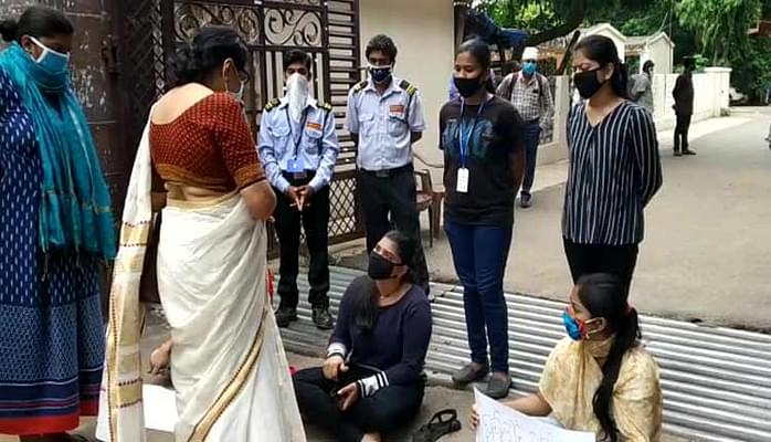 Odisha graduation final year students protest against holding 6th semester exam